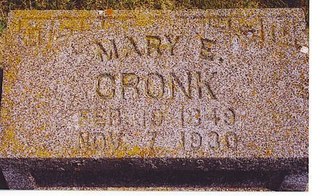 HORSWELL CRONK, MARY - Emmet County, Iowa | MARY HORSWELL CRONK