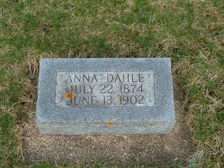 DAHLE, ANNA - Emmet County, Iowa   ANNA DAHLE