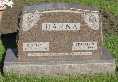 DAHNA, FRANCIS M. - Emmet County, Iowa   FRANCIS M. DAHNA