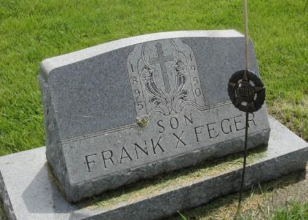 FEGER, FRANK X. - Emmet County, Iowa   FRANK X. FEGER