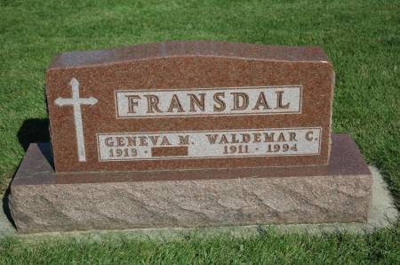 FRANSDAL, GENEVA M. - Emmet County, Iowa | GENEVA M. FRANSDAL