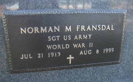 FRANSDAL, NORMAN M. - Emmet County, Iowa | NORMAN M. FRANSDAL