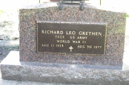 GRETHEN, RICHARD LEO - Emmet County, Iowa | RICHARD LEO GRETHEN