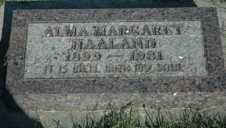 HAALAND, ALMA MARGARET - Emmet County, Iowa | ALMA MARGARET HAALAND