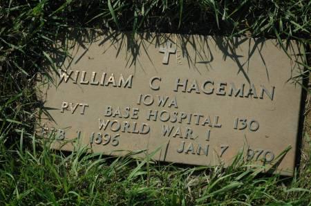 HAGEMAN, WILLIAM C. - Emmet County, Iowa | WILLIAM C. HAGEMAN