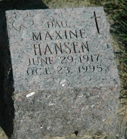 HANSEN, MAXINE - Emmet County, Iowa | MAXINE HANSEN