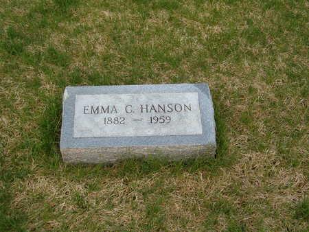 HANSON, EMMA C. - Emmet County, Iowa   EMMA C. HANSON