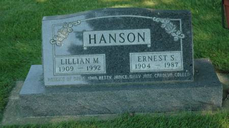 HANSON, LILLIAN M. - Emmet County, Iowa | LILLIAN M. HANSON