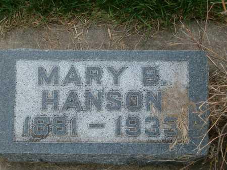 HANSON, MARY B. - Emmet County, Iowa   MARY B. HANSON
