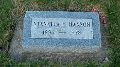 HANSON, STENETTA H. - Emmet County, Iowa | STENETTA H. HANSON