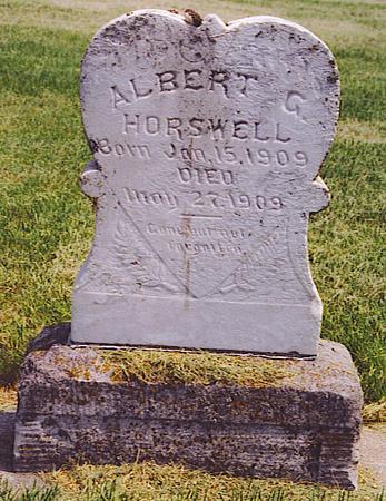 HORSWELL, ALBERT - Emmet County, Iowa | ALBERT HORSWELL