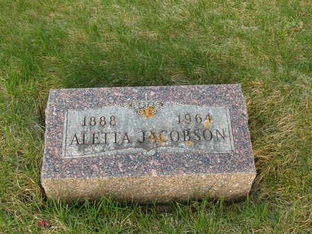 JACOBSON, ALETTA - Emmet County, Iowa | ALETTA JACOBSON