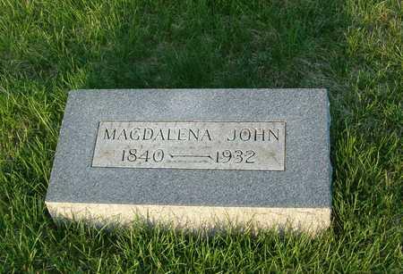 JOHN, MAGDALENA - Emmet County, Iowa   MAGDALENA JOHN
