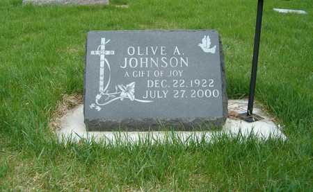 JOHNSON, OLIVE A. - Emmet County, Iowa   OLIVE A. JOHNSON