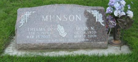 MUNSON, THELMA D. - Emmet County, Iowa   THELMA D. MUNSON