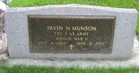 MUNSON, IRVIN N. - Emmet County, Iowa | IRVIN N. MUNSON