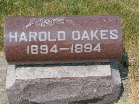OAKES, HAROLD - Emmet County, Iowa   HAROLD OAKES