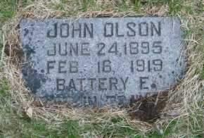 OLSON, JOHN - Emmet County, Iowa   JOHN OLSON