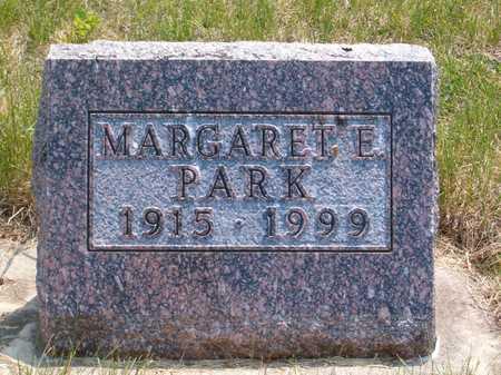 PARK, MARGARET E. - Emmet County, Iowa   MARGARET E. PARK