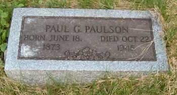 PAULSON, PAUL G. - Emmet County, Iowa   PAUL G. PAULSON