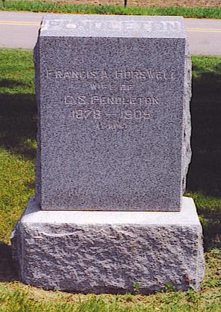 HORSWELL PENDLETON, FRANCES - Emmet County, Iowa | FRANCES HORSWELL PENDLETON
