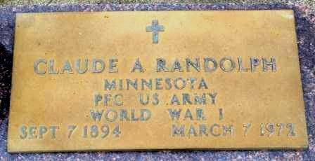 RANDOLPH, CLAUDE AUGUST - Emmet County, Iowa | CLAUDE AUGUST RANDOLPH