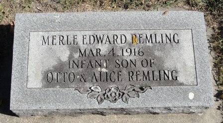 REMLING, MERLE EDWARD - Emmet County, Iowa | MERLE EDWARD REMLING