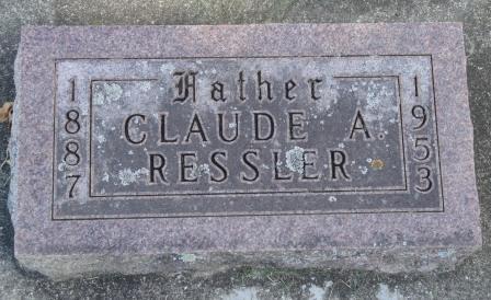 RESSLER, CLAUDE AMBROSE - Emmet County, Iowa   CLAUDE AMBROSE RESSLER