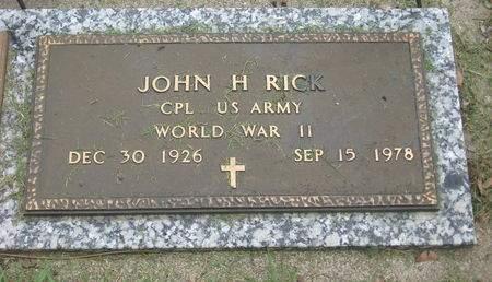 RICK, JOHN H. - Emmet County, Iowa | JOHN H. RICK