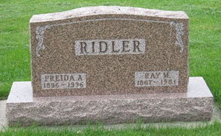 RIDLER, RAY M. - Emmet County, Iowa | RAY M. RIDLER