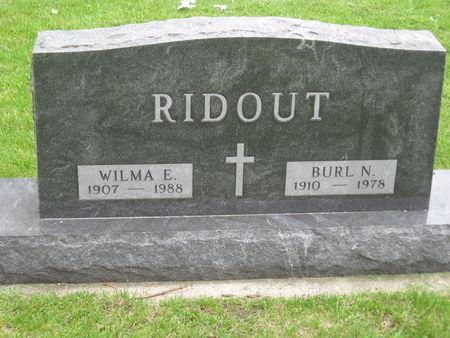 RIDOUT, BURL NELSON - Emmet County, Iowa | BURL NELSON RIDOUT