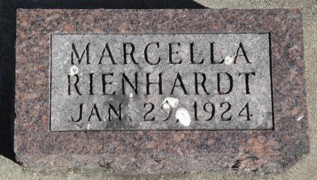 RIENHARDT, MARCELLA - Emmet County, Iowa | MARCELLA RIENHARDT