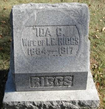 RIGGS, IDA CHRISTINE - Emmet County, Iowa | IDA CHRISTINE RIGGS
