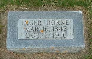 ROKNE, INGER - Emmet County, Iowa   INGER ROKNE