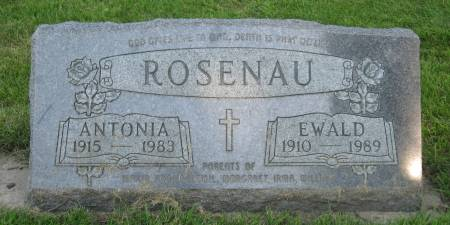 ROSENAU, ANTONIA - Emmet County, Iowa   ANTONIA ROSENAU