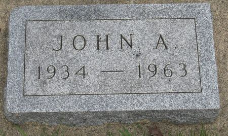 ROSENOW, JOHN A. - Emmet County, Iowa   JOHN A. ROSENOW