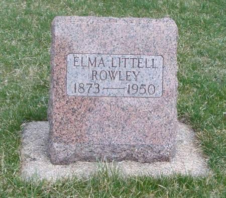 LITTELL ROWLEY, ELMA - Emmet County, Iowa | ELMA LITTELL ROWLEY