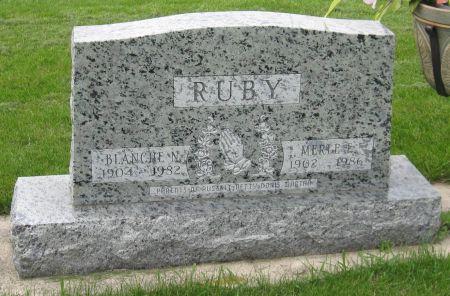 RUBY, BLANCHE - Emmet County, Iowa | BLANCHE RUBY