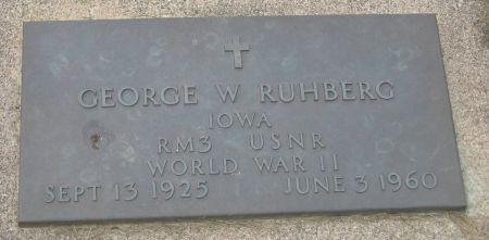 RUHBERG, GEORGE W. - Emmet County, Iowa   GEORGE W. RUHBERG