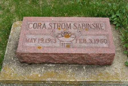 STROM SABINSKE, CORA - Emmet County, Iowa   CORA STROM SABINSKE
