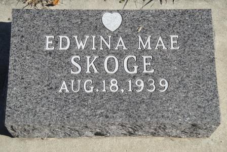 SKOGE, EDWINA MAE - Emmet County, Iowa | EDWINA MAE SKOGE