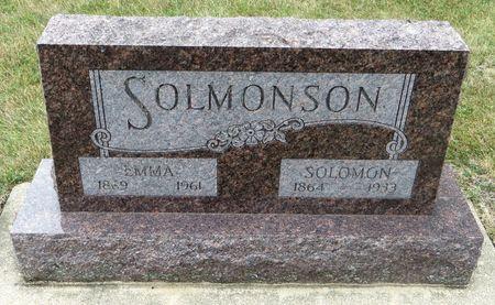 SOLMONSON, EMMA - Emmet County, Iowa   EMMA SOLMONSON