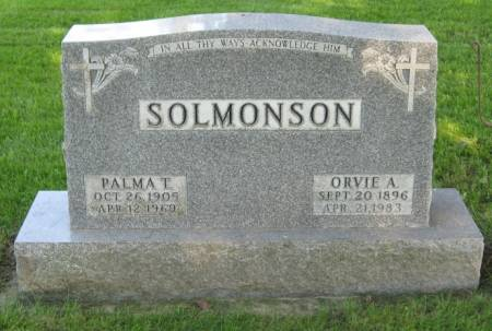 SOLMONSON, ORVIE A. - Emmet County, Iowa | ORVIE A. SOLMONSON