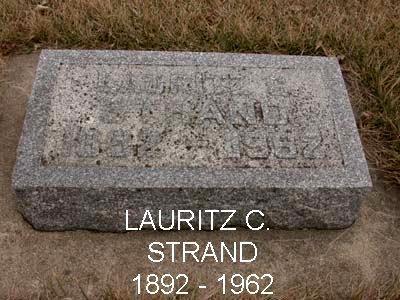 STRAND, LAURITZ C. - Emmet County, Iowa | LAURITZ C. STRAND