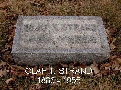 STRAND, OLAF T. - Emmet County, Iowa | OLAF T. STRAND