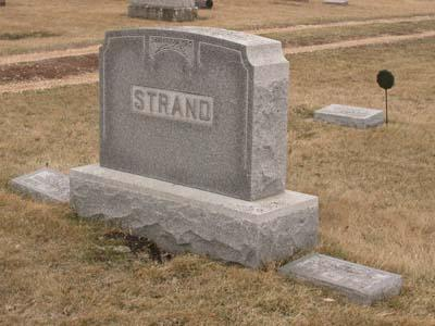 STRAND, FAMILY MONUMENT - Emmet County, Iowa | FAMILY MONUMENT STRAND