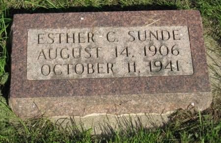 SUNDE, ESTHER C. - Emmet County, Iowa | ESTHER C. SUNDE