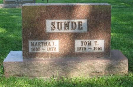 SUNDE, MARTHA I. - Emmet County, Iowa | MARTHA I. SUNDE
