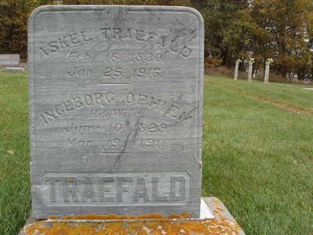 TRAEFALD, INGEBORG OPHIEM - Emmet County, Iowa   INGEBORG OPHIEM TRAEFALD
