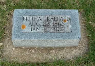 TRAEFALD, BRITHA - Emmet County, Iowa   BRITHA TRAEFALD